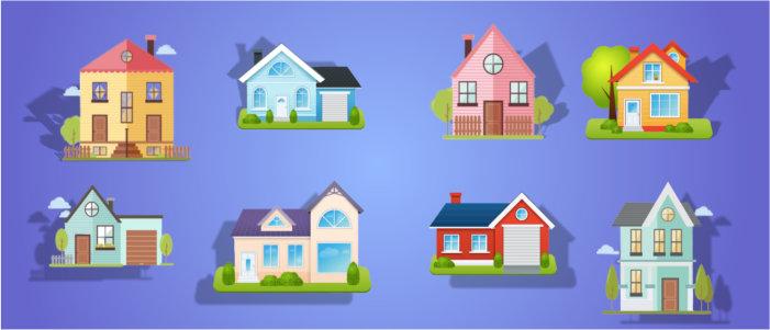 Разные типы домов