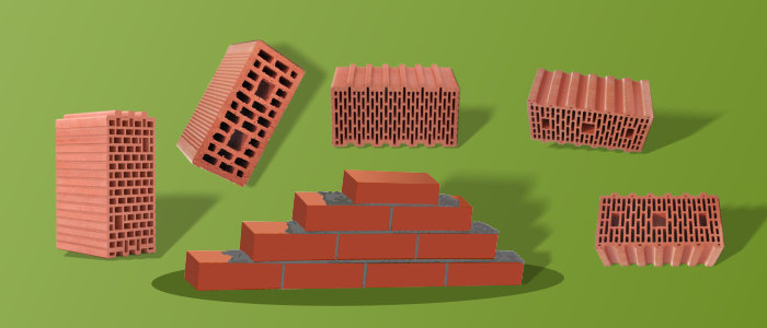 Кирпичи и керамблоки для строительства домов