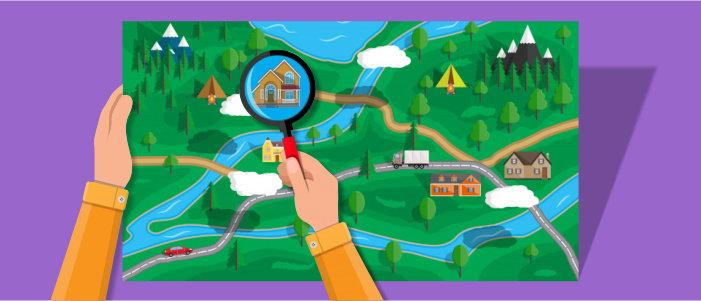 Поиск по карте – где купить дом