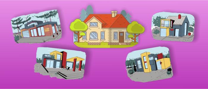 Разные типы частных домов